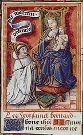 St Bernard lactating Mary