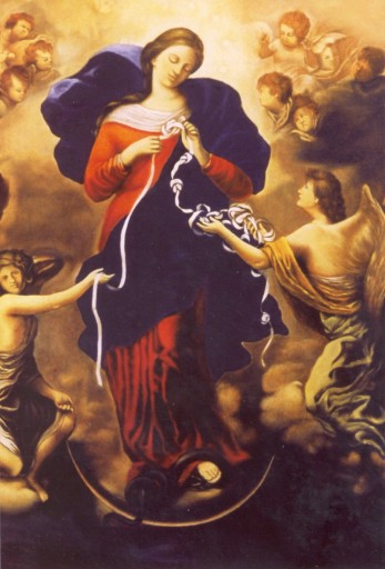 Image result for image of our lady the untier of knots
